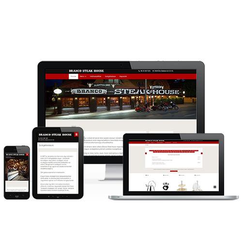 Branco Steak House weboldal referencia