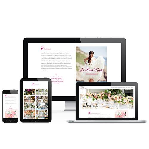 La Rosa Negra weboldal referencia