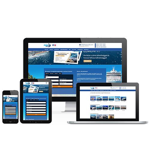 Hajós utak weboldal referencia