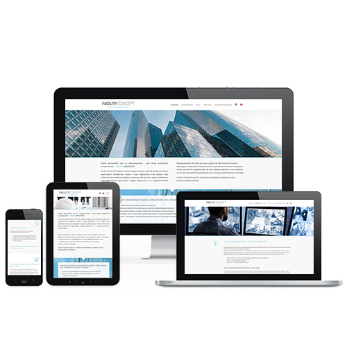 Facility Concept weboldal referencia