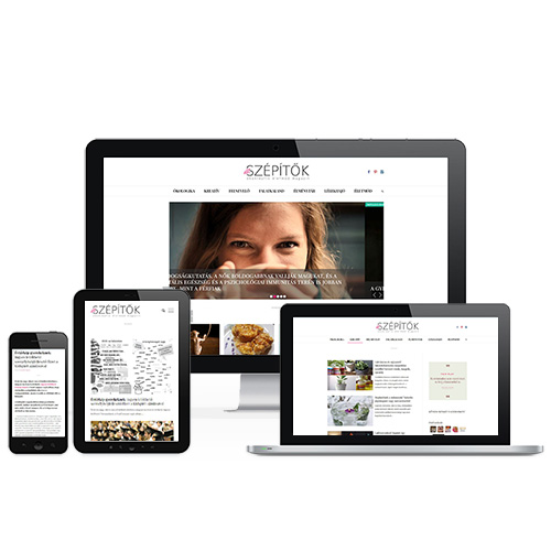 Életszépítők weboldal referencia