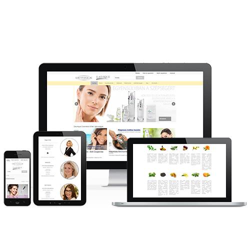 Deynique Cosmetics weboldal referencia