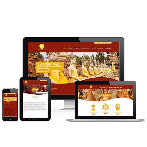 SHANTI Oktatási Központ weboldal referencia
