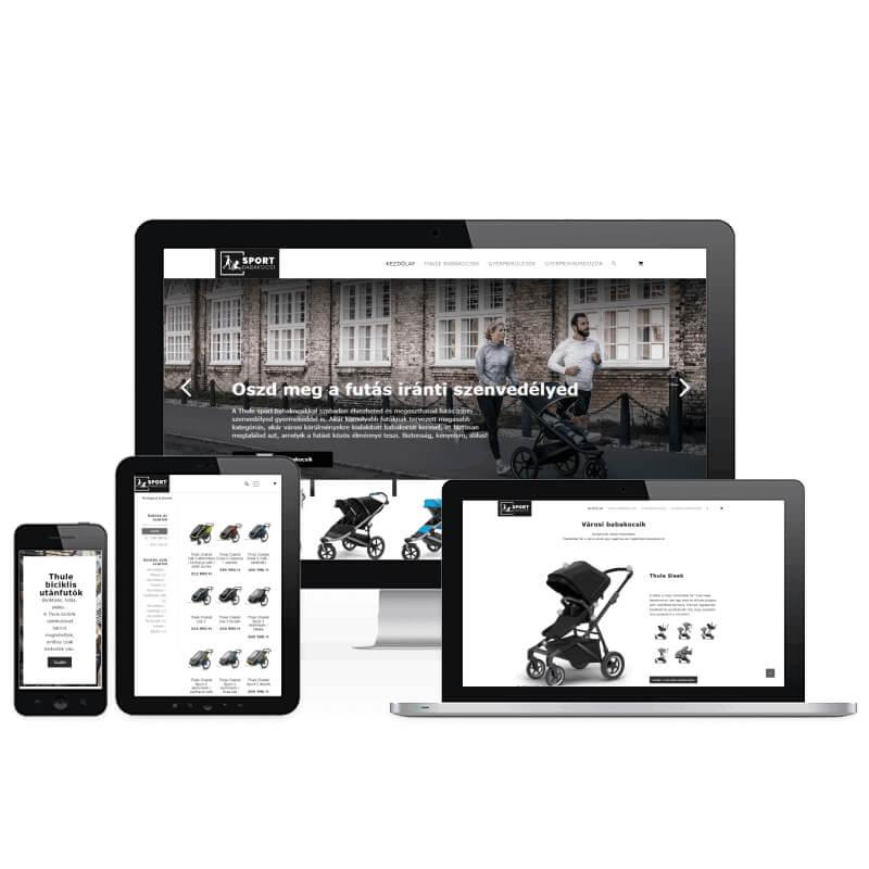 Sport Babakocsi weboldal referencia