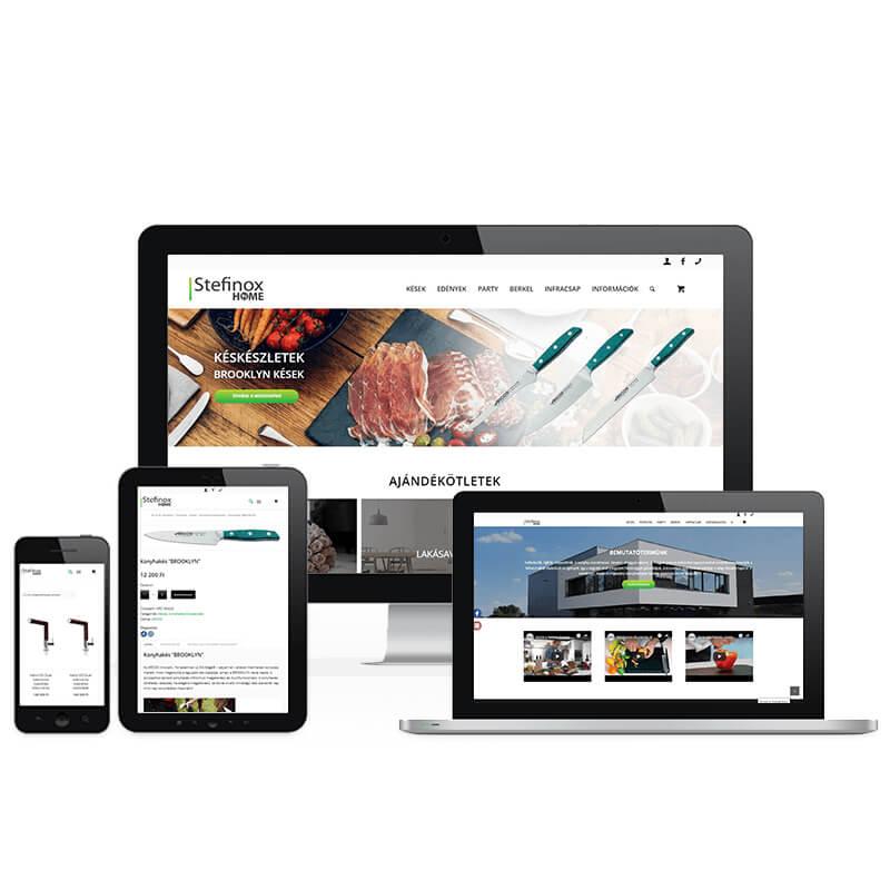 Stefinox Home weboldal referencia