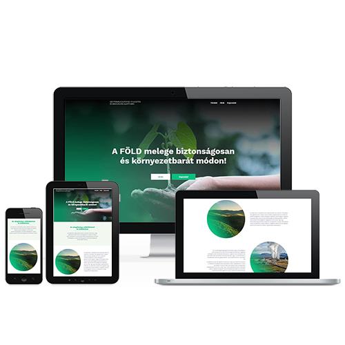 Geotermális Kutatás-fejlesztési és Innovációs Alapítvány weboldal referencia