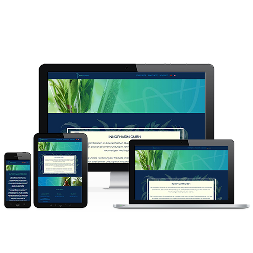 Innopharm weboldal referencia