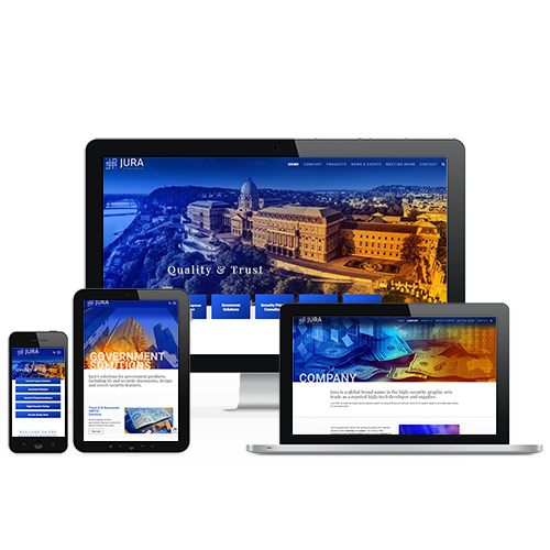 Jura weboldal referencia