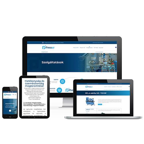 Press Air Kft. weboldal referencia