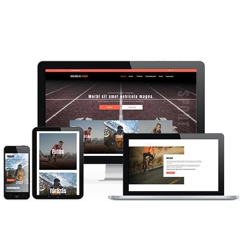Virtuális sport weboldal referencia